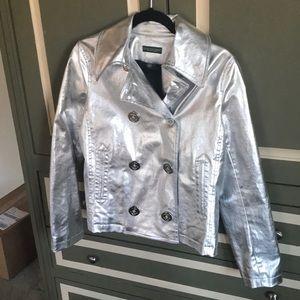 🟤 EUC - Silver Ralph Lauren peacoat - Size M